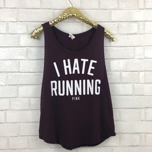 VS Pink I Hate Running Graphic Tank